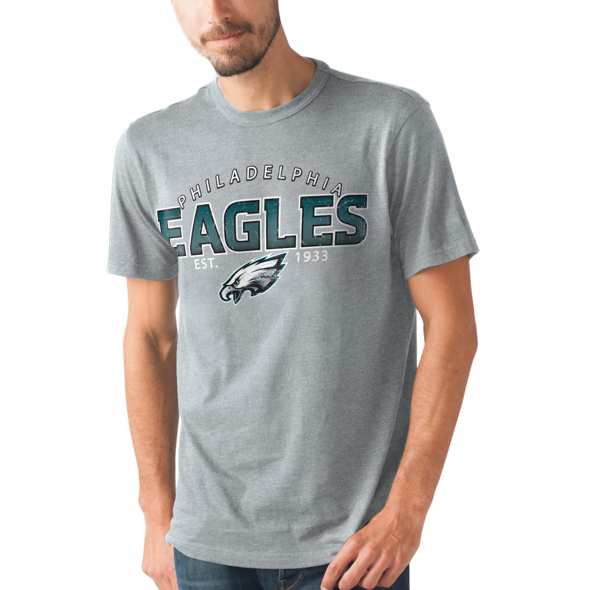 Philadelphia Eagles Hands High Prime Time T-shirt - Graphite