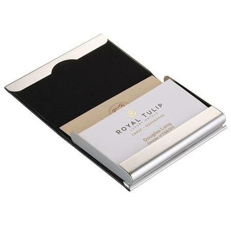 Tsv portable pu leather pocket metal business id credit card holder tsv portable pu leather pocket metal business id credit card holder case wallet colourmoves