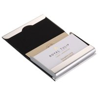 Business card holders name plates walmart walmart tsv portable pu leather pocket metal business id credit card holder case wallet colourmoves Choice Image