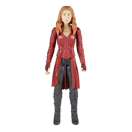Marvel Infinity War Titan Hero Series Scarlet Witch with Titan Hero Power FX Port, 12-inch-scale Scarlet Witch figure with movie-inspired design By