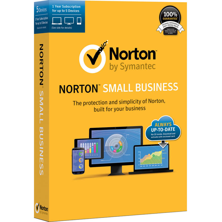 Symantec 21330175 Norton Small Business, 12 Months, 5 Devices (Email Delivery) by Symantec