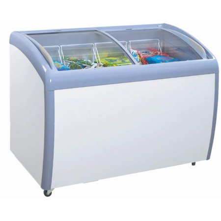 Freezer 3 Glass Doors - Atosa MMF9109, 9.2 Cu.Ft 39-Inch Ice Cream Freezer, 2 Sliding Glass Arc Doors