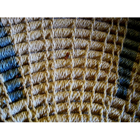 Canvas Print Wicker Handwork Weave Pattern Basket Skill Stretched Canvas 10 x 14 ()