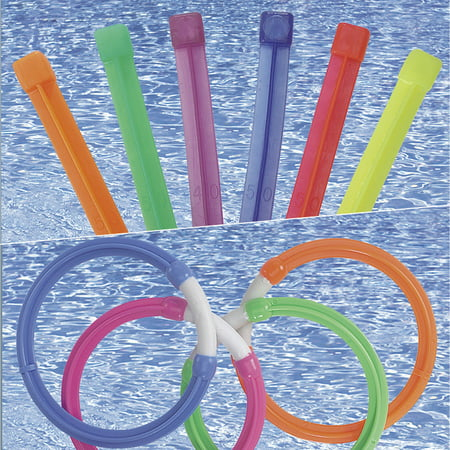 SunSplash Dive Ring and Dive Stix Combo for Swimming -