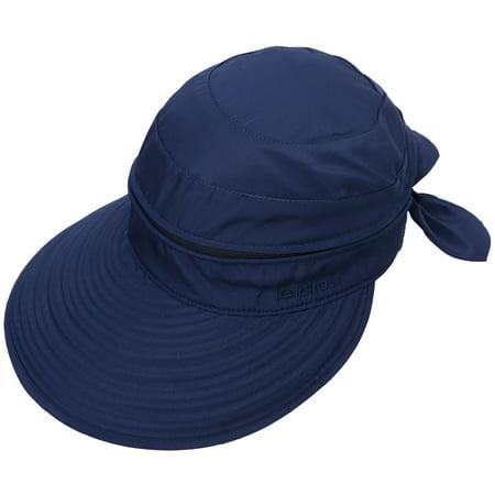 Simplicity - Simplicity Women s UPF 50+ UV Sun Protective Convertible Beach  Hat Dark Blue - Walmart.com 28e1c7beabd