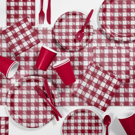 Picnic Supplies (Red Gingham Picnic Supplies)