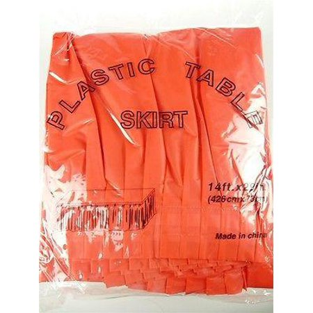 ea9f7ed4c Plastic Table Skirt Adhesive Pleated, 29-Inch x 14-feet, Red - Walmart.com