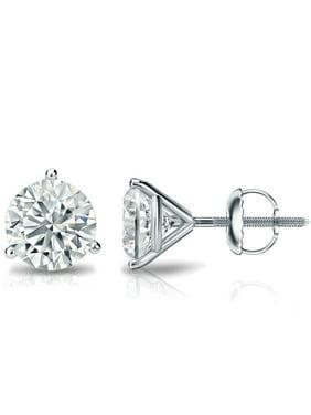 bf4c28ff2 Product Image Diamond Wish® 18k Gold 3-Prong Martini Round Diamond Stud  Earrings (3/