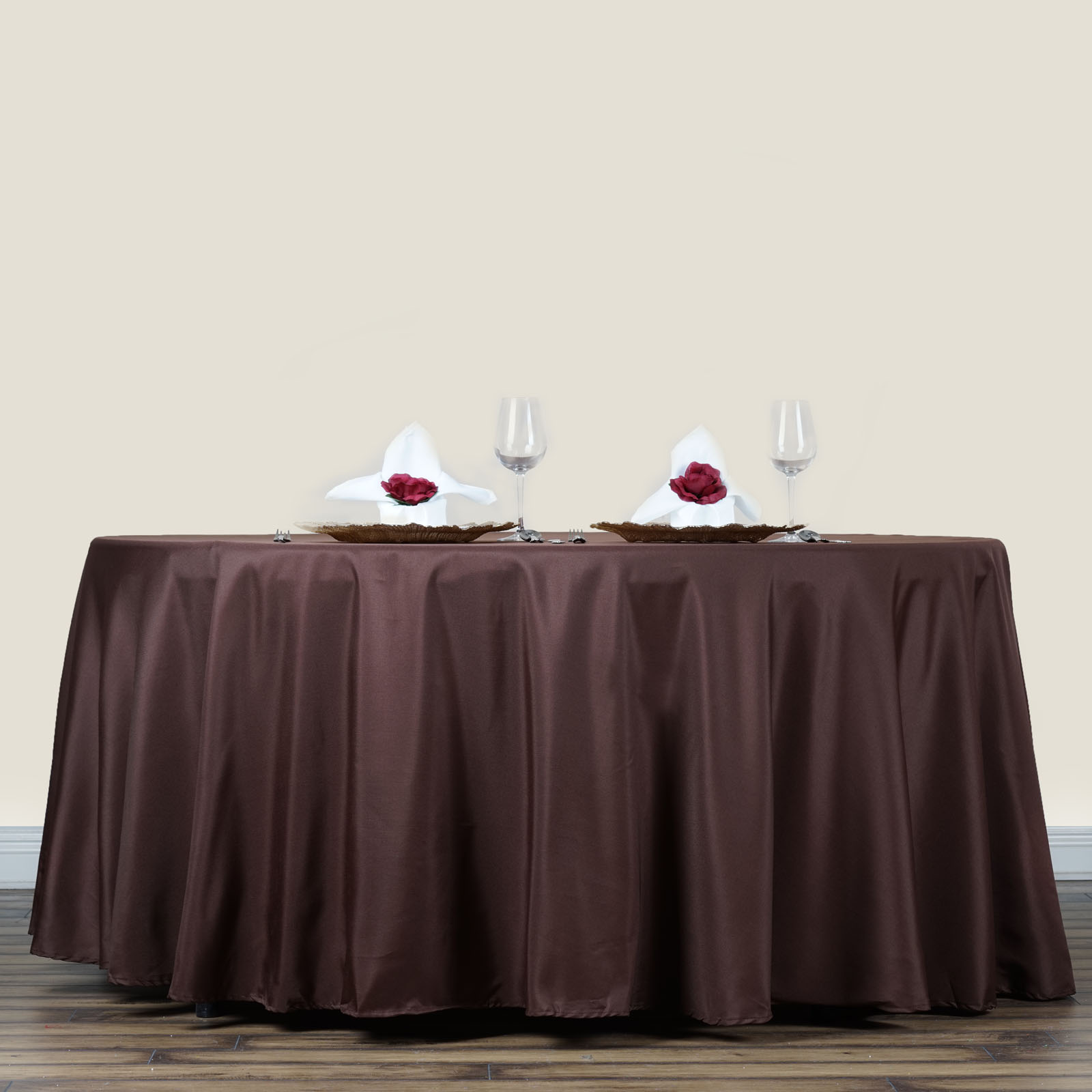 "Efavormart 70"" Round Polyester Tablecloth for Kitchen Dining Catering Wedding... by"