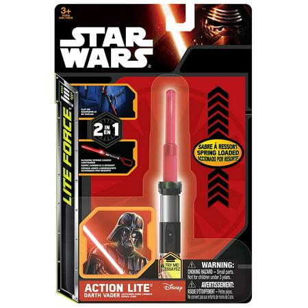 Star Wars Series 7 Lightsaber  Light Saber  Clip On Action Lites  Complete Set Of All Three Lights  Yoda  Darth Vader   Luke