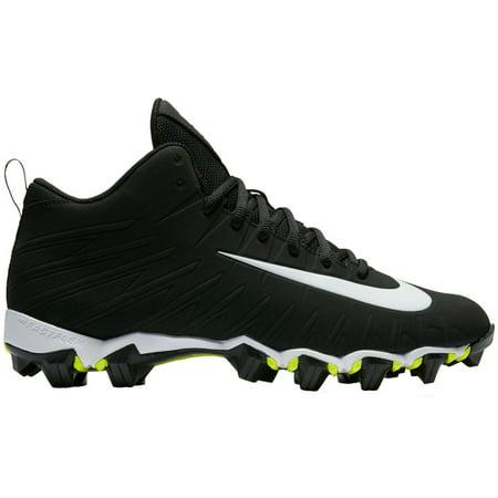 4dd3436915a Nike Men s Alpha Menace Shark Football Cleats - Black White - 10.0 ...