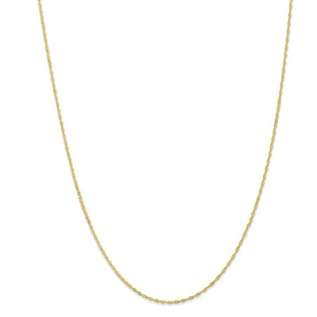 10k Yellow Gold 1.10mm Singapore Chain Necklace or Bracelet