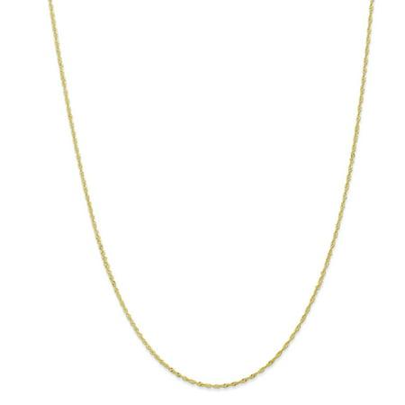 10k Yellow Gold 1.10mm Singapore Chain Necklace or Bracelet - Magnet Bracelet Necklace