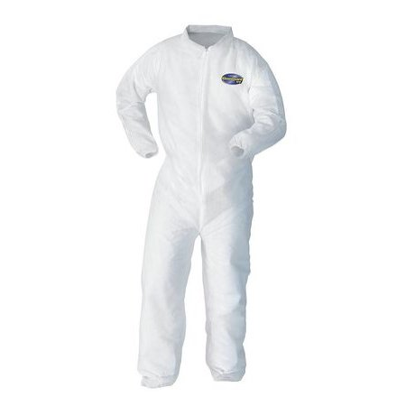 KLEENGUARD Collared Coverall,Open,White,3XL,PK25 - Kleenguard Ultra Coveralls