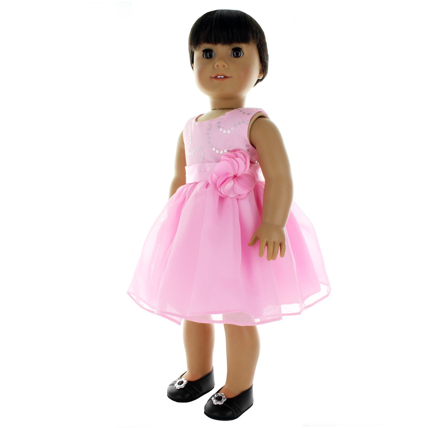 Doll Clothes Flowers Dresse Outfit Fits American Girl & Other 18 Inch Dolls by Pink Butterfly Closet