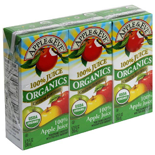 Apple & Eve Organics Apple Juice, 6.75 fl oz, 3ct (Pack of 9)