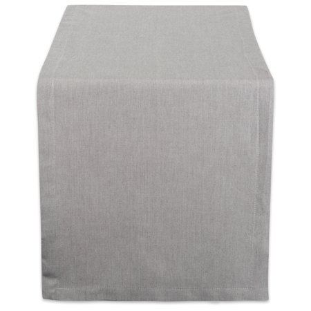 """Design Imports Solid Chambray Table Runner, 72""""x14"""", 100% Cotton , Multiple Colors/Sizes"""