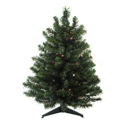 Darice 3 ft. Pre Lit Natural 2 Tone Pine Artificial Christmas Tree