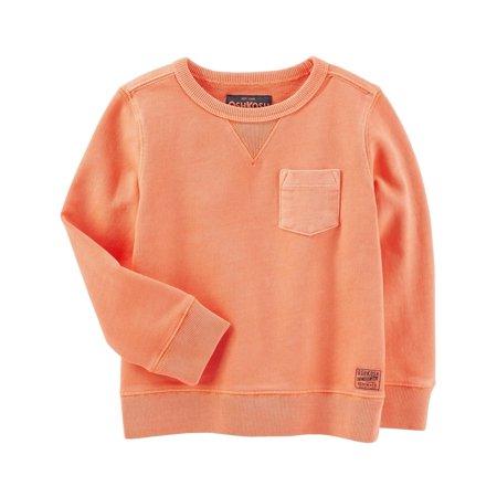OshKosh B'gosh Baby Boys' French Terry Sweatshirt, Orange, 6-9 Months ()