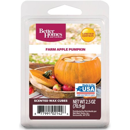 Better homes gardens 2 5 oz farm apple pumpkin scented wax melts for Better homes and gardens wax melts