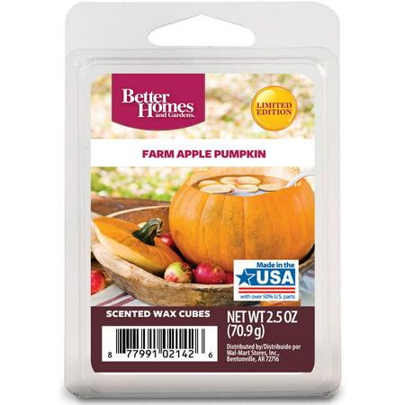 Better Homes Gardens 2 5 Oz Farm Apple Pumpkin Scented Wax Melts