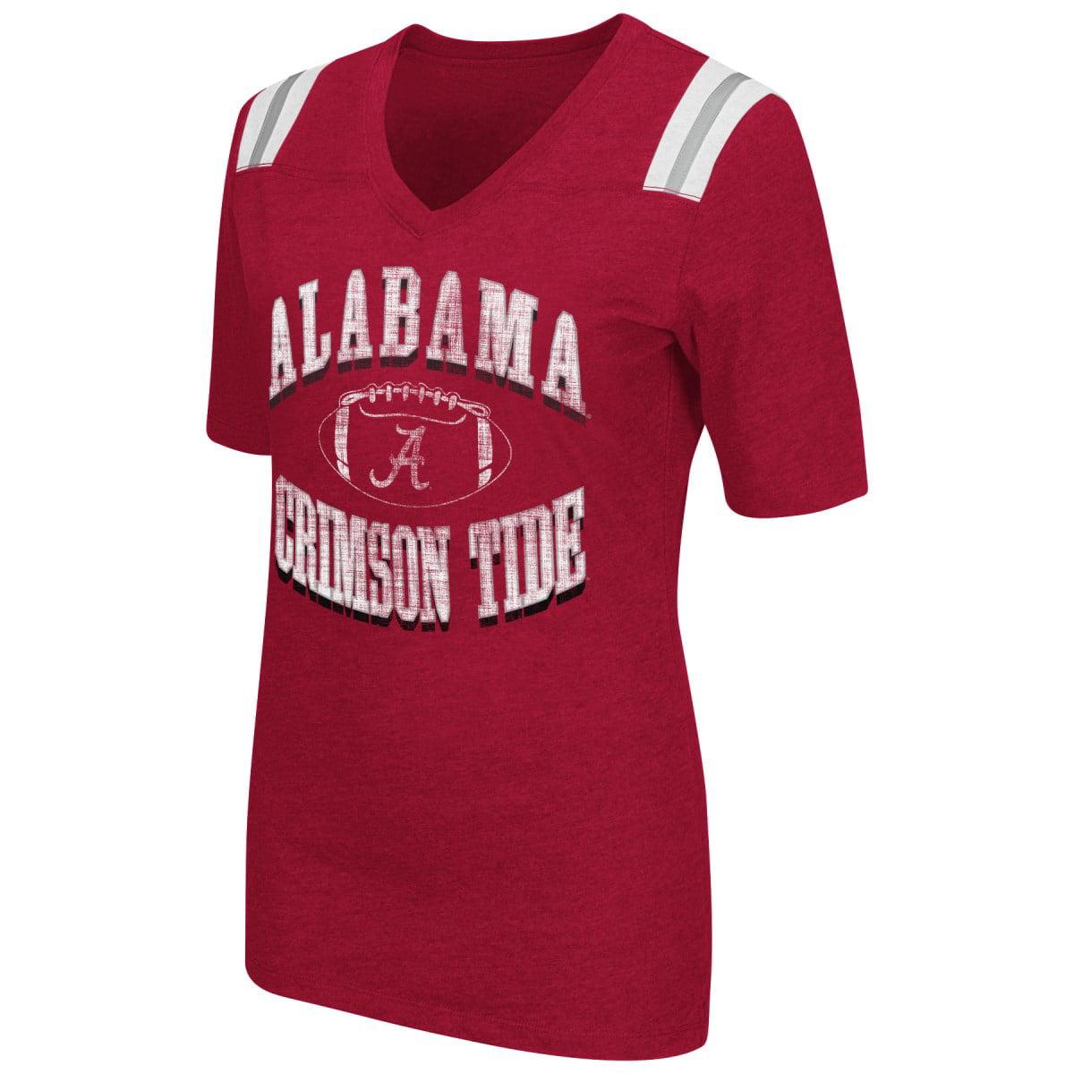 """Alabama Crimson Tide Women's NCAA """"Artistic"""" Dual Blend Short Sleeve T-Shirt"""