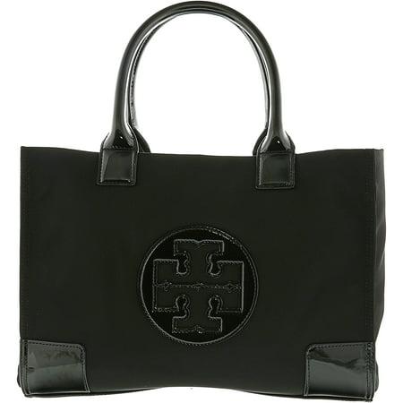 Tory Burch Canvas Tote (Tory Burch Women's Ella Mini Nylon Top-Handle Bag Tote - Black/Black )