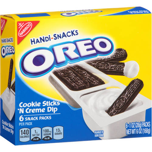 Oreo Handi-Snacks, Cookie Sticks 'N Crème Dip , 1 Oz, 6 Count