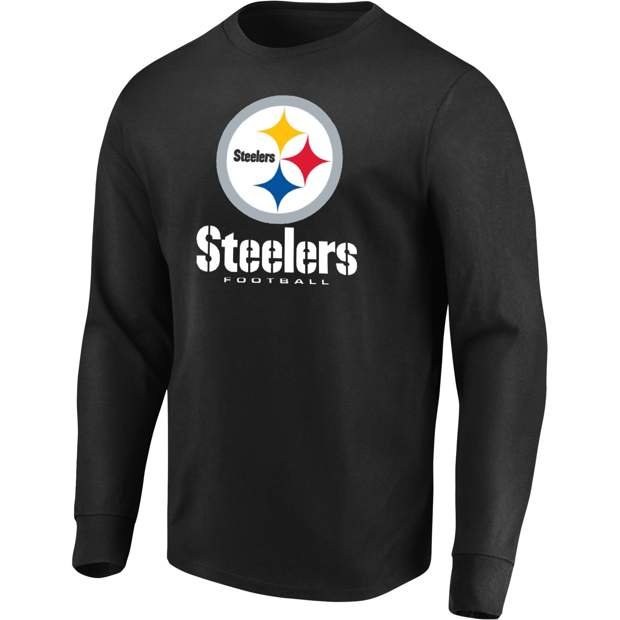 Men's Majestic Black Pittsburgh Steelers Our Team Long Sleeve T-Shirt