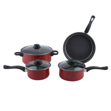 Dishwasher Safe Steel Casserole - 4 PCS/Set Non Stick Cookware Casserole Set Carbon Steel Cooking Cookware Set