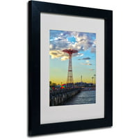 "Trademark Fine Art ""Coney Island"" Matted Framed Art by CATeyes"