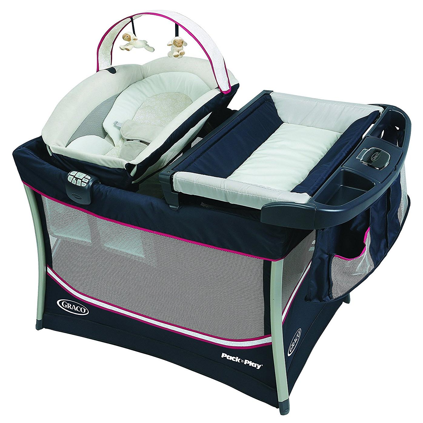 Graco Pack 'n Play Everest Playard with Portable Lounger, Ayla