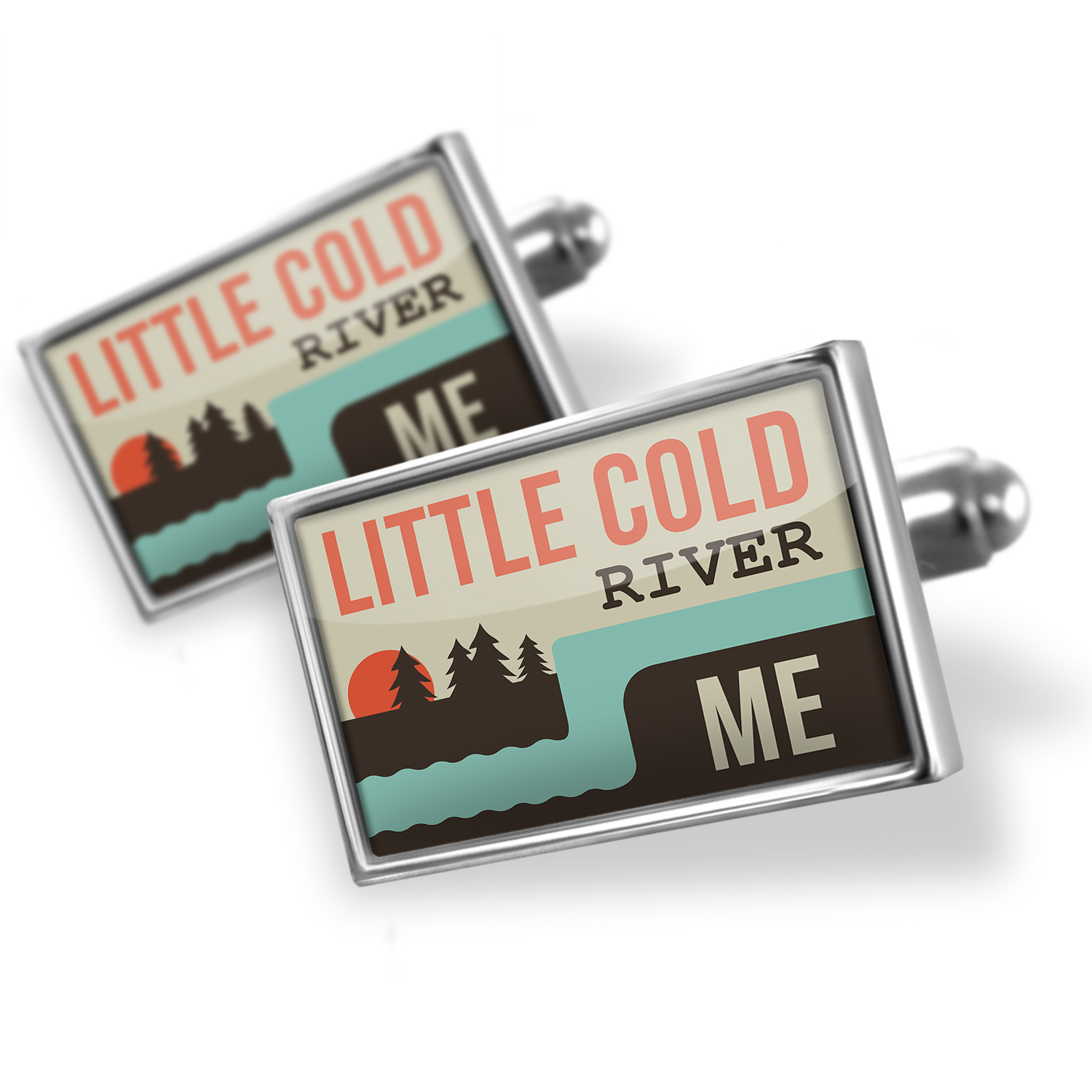Cufflinks USA Rivers Little Cold River - Maine - NEONBLOND