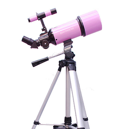 Twinstar 80mm Refractor Telescope with Full Size Tripod, Pink