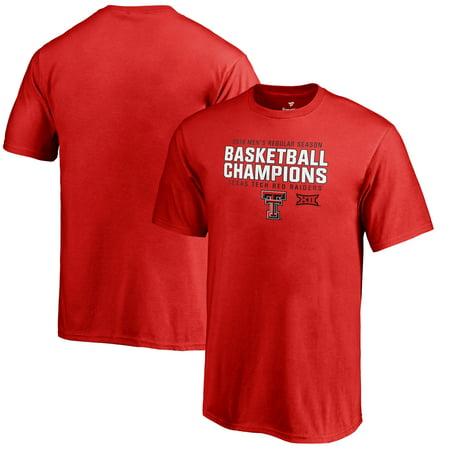 Texas Tech Red Raiders Fanatics Branded Youth 2019 Big 12 Men's Basketball Regular Season Champions T-Shirt - Red (Tech Red Raiders Basketball Jersey)
