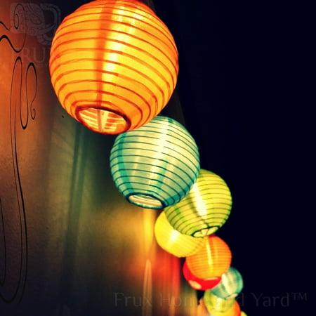 Zimtown Patio Lantern String Lights 6 Ft 10 Led 2 Modes Solar Ed Garden