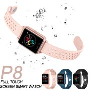 P8 Bluetooth Smart Watch for Women Pedometer Calories Heart Rate Monitor Waterproof Sports Watch Smart Watch for Men for IOS Android Phone
