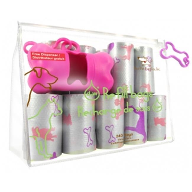 Best Pet Supplies SDP-2401 Pink Dog on Silver - 16Rolls-Bag