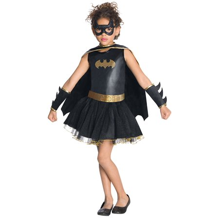 Batgirl Tutu Dress (Justice League Child's Batgirl Tutu Dress - Toddler, Batgirl pull-over costume dress with glittery logo, removable cape, eye mask, belt, and gauntlets. By)