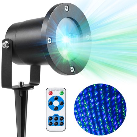 Magicfly Outdoor Christmas Laser Lights Green and Blue Landscape Star Projector Decorative Lights Party Decoration (Best Christmas Laser Light Projector)