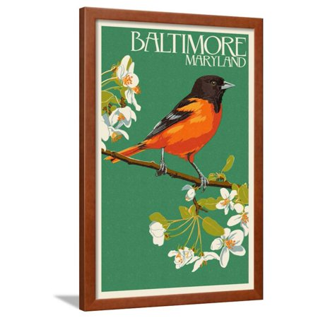 Oriole - Baltimore, MD Framed Print Wall Art By Lantern (Baltimore Orioles Ironman Framed)