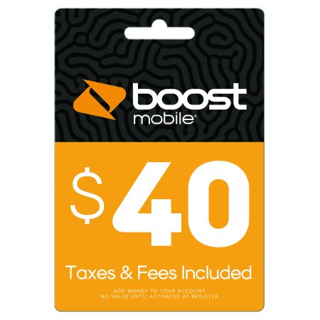 $40 Re-Boost Card (Email Delivery) Boost Mobile Unlimited