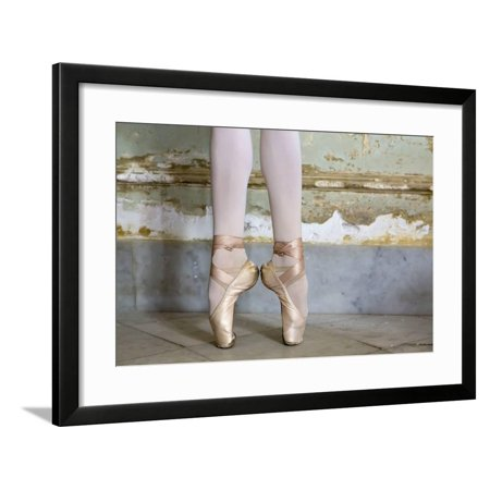 Cuba, Havana. Ballet position of ballerina's legs and feet. Framed Print Wall Art By Jaynes (Havana Brown Pictures)