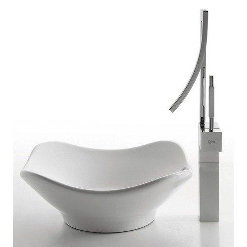 Kraus Ceramic White Tulip Sink and Millennium Faucet