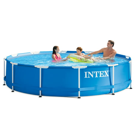 Intex 12' x 30'' Metal Frame Above Ground Swimming Pool with Filter Pump (Pop Up Swimming Pool)