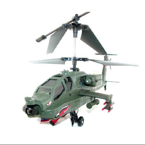 Syma S023G 3.5 CH Large AH-64 Apache Military Gyro Helicopter - 15 Inches