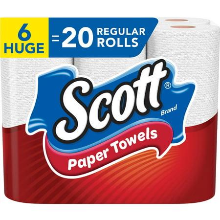 Scott Paper Towels, 6 Huge Rolls (=20 Regular Rolls), Choose-A-Sheet, 184 Sheets Per Roll (1,104 Total Sheets) - Halloween Craft With Paper Towel Roll