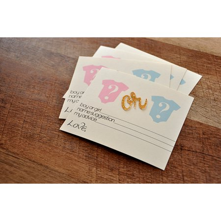 Gender Reveal Party Prediction Cards 10CT.  Ships in 1-3 Business Days.  Gender Reveal Party Ideas.