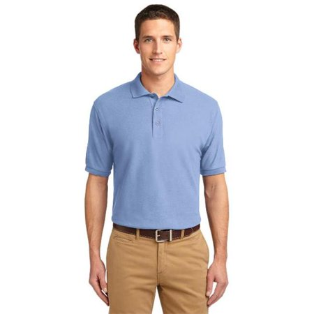 K500 Mens Silk Touch Polo T-Shirt, Light Blue - 3XL