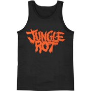 jungle rot men's  logo mens tank black